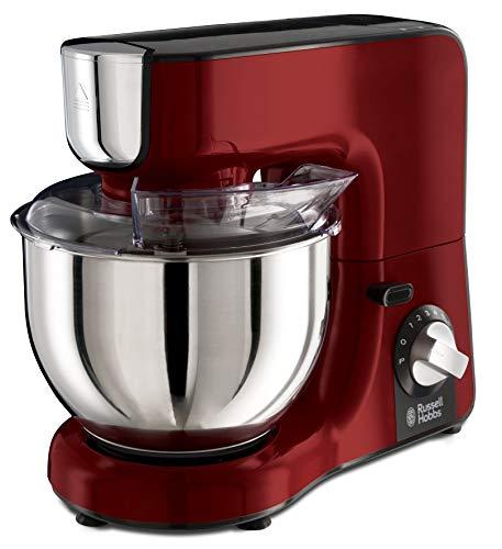 Russell Hobbs Desire - Robot de cocina (1000 W, Bol Inox de 5 l, Accesorios y Jarra para Batir, Rojo) - ref. 23480-56