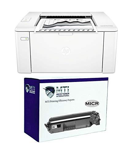 MICR Toner International LaserJet Pro M102w Check Printing Bundle with MTI 17A CF217A Modified MICR Toner Cartridge