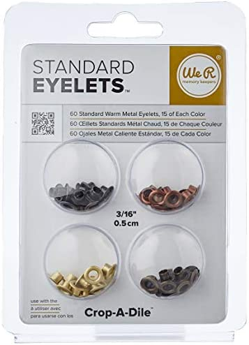 We R Memory Keepers Eyelets for Scrapbooking, Warm Metal, Standard (41583-1)                Mini Tool Kit & Magnetic Mat by We R Memory Keepers | Includes 6 x 8-inch magnetic mat, 6-inch ruler, precision tweezers, brad setter, art knife and 5-inch precision scissors                American Crafts Variety Pack Autumn 60 Sheets of 12 x 12 Inch Cardstock, Assorted                Photo Sleeve Fuse Starter Kit by We R Memory Keepers | Includes tool, fusing tip, cutting tip, ruler stencil, and tool stand