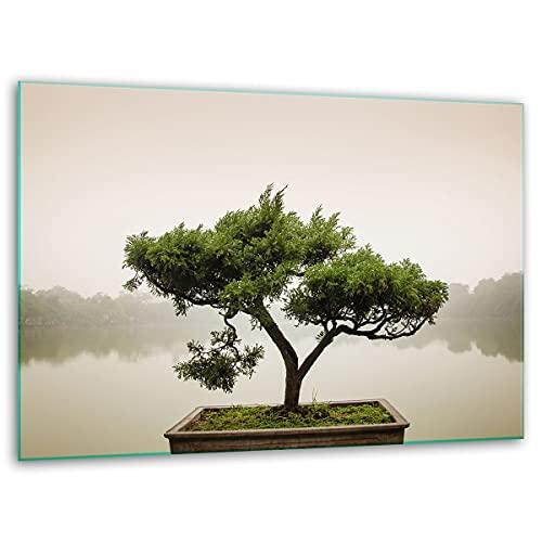TMK, Tabla de cortar de cristal, 40 x 30 cm, con diseño de árbol