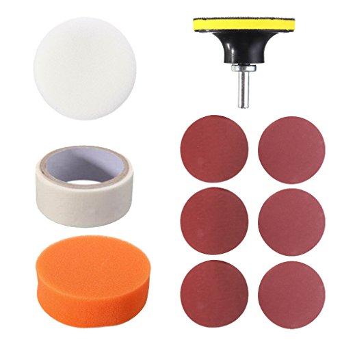 H HILABEE Cuidado del Coche Protección de Faros Delanteros Lámpara de Cabeza Limpieza de Lentes Kit de Herramientas de Pulido