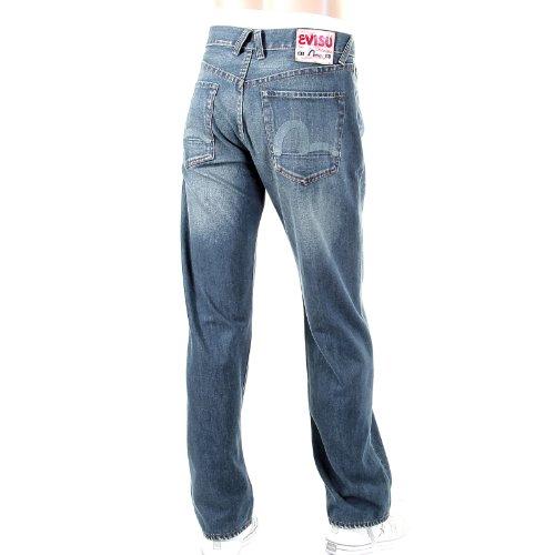 Evisu - Jeans - Herren, Straight Leg, EVIS0678, Blau, EVIS0678 32 W