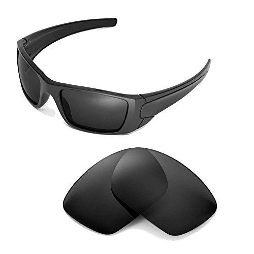Walleva Ersatzgläser für Oakley Fuel Cell Sonnenbrille-Mehrfache Optionen (Schwarz - polarisiert)