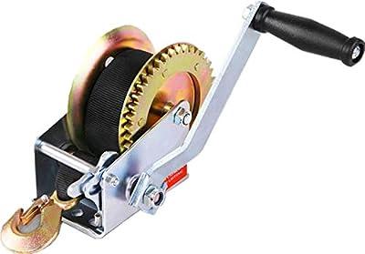 OFFROAD BOAR Heavy Duty 2-Speed Hand Crank Nylon Winch-1200lb