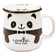 Moyishi Panda Office Mug Coffee Milk Ceramic Mug Cup Pen case 300ml Best Gift