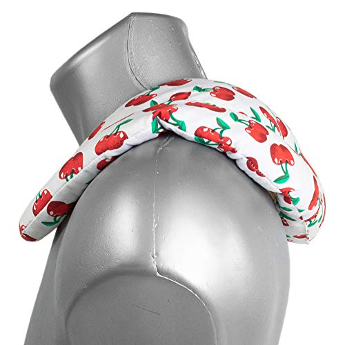 Cuscinetto ricurvo con tasca - cherry-white - Semi di ribes - Cuscino per il collo per terapia calde e freddo (microonde, forno e frigorifero)