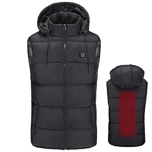 Langyinh Verwarmd vest zonder mouwen, USB-opladen, verwarmt kleding voor buiten, wandelen, jagen, kamperen, motorfietsen, gebruik voor mannen en vrouwen