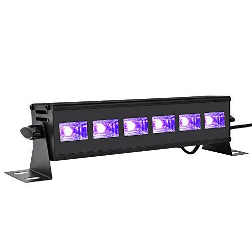 KOKOMALL Barra de Luz LED negra UV Luz LED,18W Barra Ultravioleta Iluminación de Escenario Luz de Inundación Luz de Discoteca de fiesta,pintura corporal,carteles fluorescentes,arte de pintura de neón