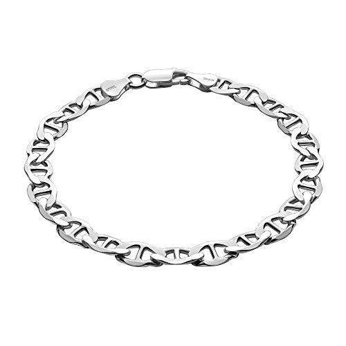 STERLL Pulsera para hombre de plata 925, 22 cm de longitude, con caja de joyas, ideal como regalo de hombre