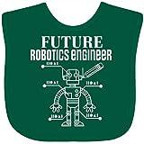 Inktastic Future Robotics Engineer Robot Baby Bib Pink and Black 2dac6