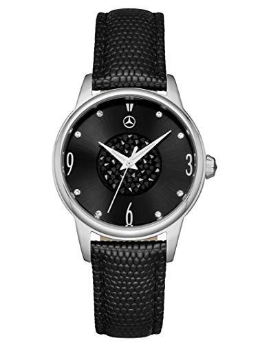 Mercedes-Benz Collection Armbanduhr Damen Glamour Mark 2 | Damenuhr, Businessuhr, Edelstahl | schwarz, Silber