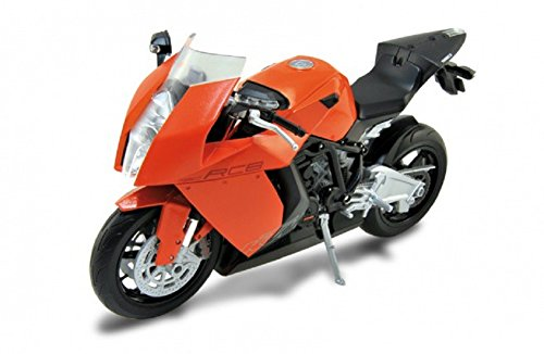 DieCast Modell Motorrad KTM 1190 RC8 orange schwarz metall Welly Motorradmodell 1:10