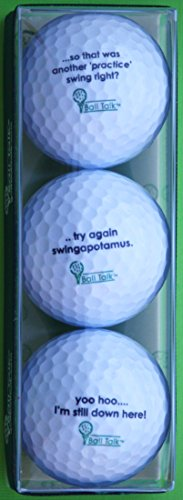 For Sale! BallTalk Golf Balls - Whiff Series 3-Ball Pack containing 3 Different Golf Balls