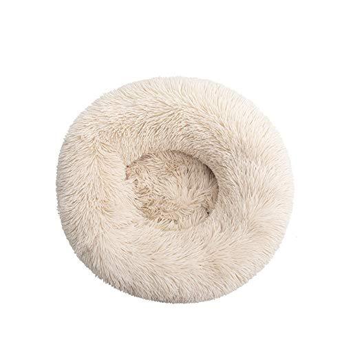 #N/D Cama para perro cómoda para mascotas con forma de donut redonda, ultrasuave, lavable, cojín para perro y gato, sofá cálido de invierno, E-XXL, 80 cm