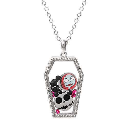 Disney Nightmare Before Christmas Silver Plated Coffin Shaker Necklace, Official License