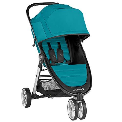 Baby Jogger 2083060 City Mini 2 - Silla de paseo ligera, 3 ruedas, mecanismo de plegado rápido con una sola mano Capri (turquesa).