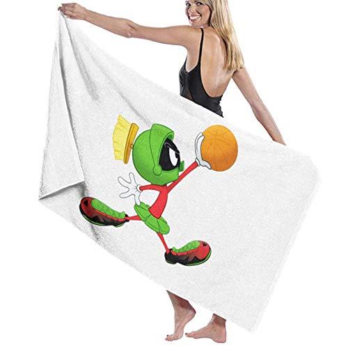 LREFON The Martian Play Basketball Toallas de baño Moda de Secado rápido Toalla de Ducha Personalidad Toalla de natación de Playa Suave (31.5X51.2 Pulgadas)