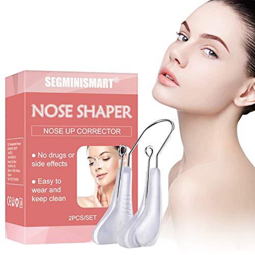 Nose Shaper,Nose Clip Up,Nose Lifting Shaper,Outil de levage de nez invisible,Silicone Nose Clip, Clips de levage nasal pour nez supérieur,Indolore, Avec silicone souple