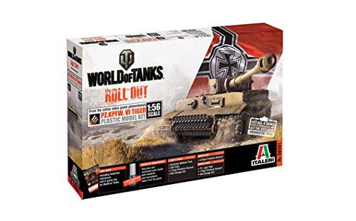 Italeri 56501 - World Of Tanks Pz.Kpfw.Vi Tiger I Scale Model Kit Scala 1:56