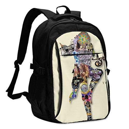 RbertRSalazars Hip-Hop The Very Best of Jethro Tull Durable Waterproof Anti Theft Laptop Backpack Travel Backpacks Bookbag with USB Charging Port/Earphone Hole for Cycling Backpack