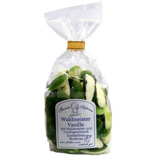 Zuckerfreie Waldmeister-Vanille Bonbons, 120g