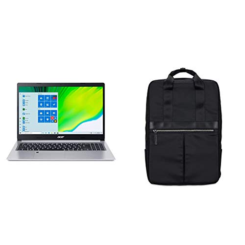 """Acer Aspire 5 A515-46-R14K, AMD Ryzen 3 3350U Quad-Core Mobile Processor, 15.6"""" Full HD IPS Display, 4GB DDR4, 128GB NVMe SSD with Acer 15.6"""" Black Travel Backpack"""
