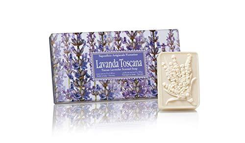 Lavendelseife, handgemachte italienische Seife aus Fiorentino, 3 St je 125g,