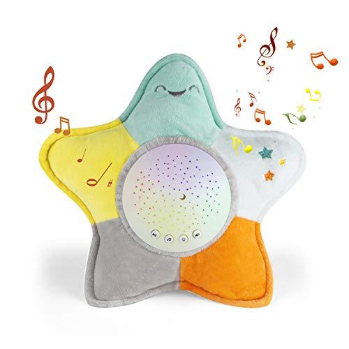 Baby Music Box,Baby Schlafschnuller und Schlafmittel Spielzeug,Kleinkind Schlafmittel Nachtlicht/Projektor,10 Popular Wiegenlied (Seestern)