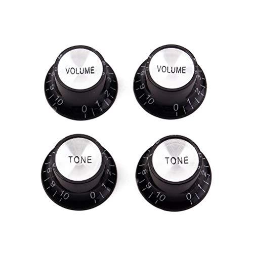 HEALLILY - 4 botones de control de guitarra de aluminio acrílico para...
