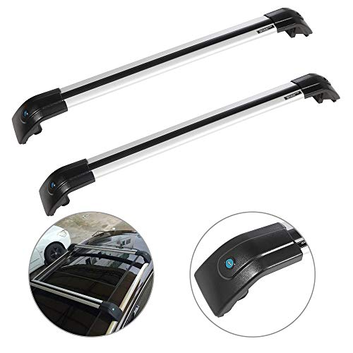 SCITOO fit for Ford Edge 2007-2017 Buick Enclave2012-2014 Honda Pilot 2016 Aluminum Alloy Roof Top Cross Bar Set Rock Rack Cargo Luggage Carrier Racks