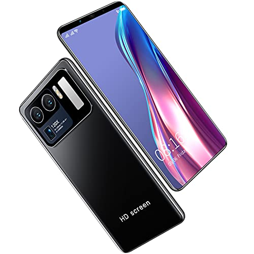 YouthRM Teléfonos Celulares Desbloqueados con Teléfono Inteligente Android 10.0 M12 Uitra 6.38 Pulgadas HD + 1080X2320 5G 10-Core 12GB + 512GB 24MP + 48MP, 5000mAh,Teléfonos Desbloqueados,Black
