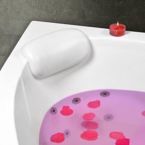 Kopf- und Nackenkissen für Badewanne (Eckwanne) Modell Mosel Weiss