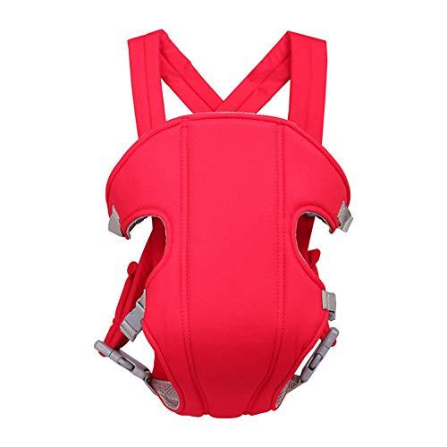 QqHAO 2-30 Mois Avant Respirant Face Porte-bébé Sling Sac à Dos Confortable Pochette Wrap bébé Kangourou Porte réglable,Rouge