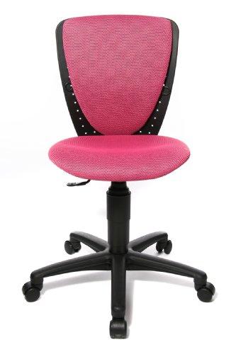 Topstar 70570BB10 High S'cool, Kinder- und Jugenddrehstuhl, Schreibtischstuhl für Kinder, Bezugsstoff pink