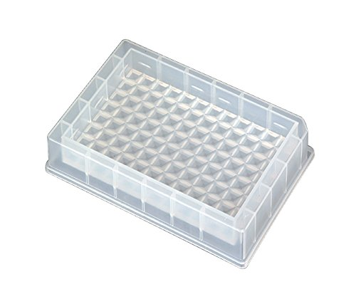Axygen RES-SW96-LP Polypropylene Single Well Low Profile Reagent Reservoir with 96-Bottom Trough, Non-Sterile, 86mL Capacity (Case of 25)
