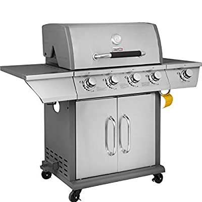Royal Gourmet Propane Gas Grill Outdoor Cooking with Side Burner