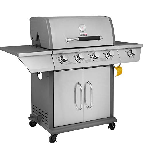 Royal Gourmet 4-Burner Propane Gas Grill with Side Burner GG4302S, Stainless Steel