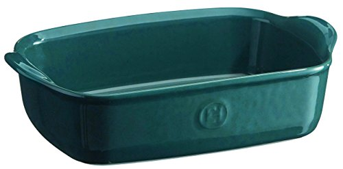 Emile Henry France Ovenware Ultime Rectangular Baking Dish, 8.7 x 5, Blue Flame