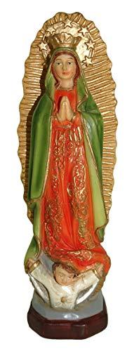 Ferrari & Arrighetti Estatua Virgen de Guadalupe de 12 cm con Caja Regalo y marcapáginas (en ES/IN/FR/IT)