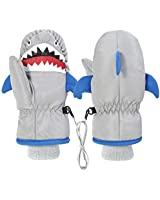 Kids Mitten for Playing Outdoors Warm Winter Soft Gloves for 3-9 Years Old for Boys and Girls with Cute Cartoon Animal