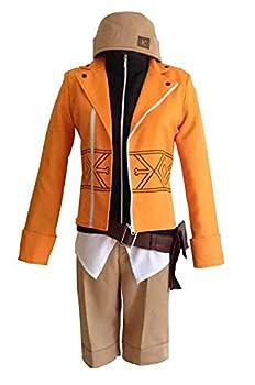 Future Diary Amano Yukiteru Orange Halloween Cosplay Costume  Male XS
