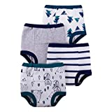 Lamaze Organic Baby Boys' Baby Reusable and Washable Toddler Potty Training Pants, Cotton Cloth, 4 Pack,...