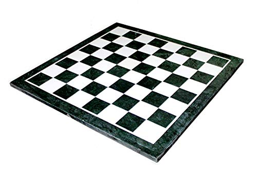 StonKraft - 20' X 20' Green Marble Chess Design with Inlay Work Coffee Table/Centre Table Top Without Stand