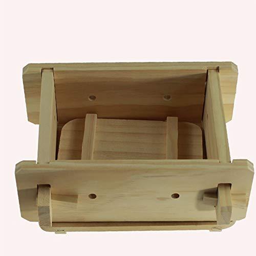 Tofu Maker Kits aus Holz, handgefertigt, Tofu Formenwerkzeuge, abnehmbare Form zum Pressen von TOFU, umweltfreundlich und gesund, 16 x 12 x 9 cm 16x12x9cm Wie abgebildet
