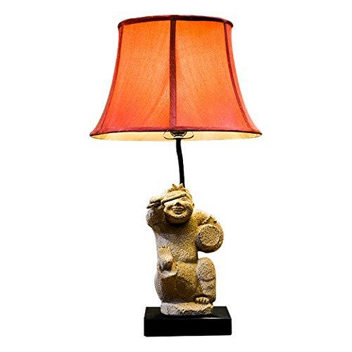 Lámparas de escritorio Tabla retro chino Lámpara creativa de la sala de estar del hotel Lámpara de mesa clásica Craft dormitorio lámpara de cabecera Tabla Corredor de la lámpara Lámpara Mesilla de Noc
