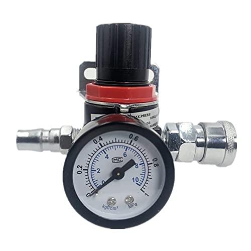 HYY-YY AR2000 G1 / 4 '' Válvula reguladora de alivio del alivio del compresor de control de aire con accesorios (Color : AR2000 w SM20)