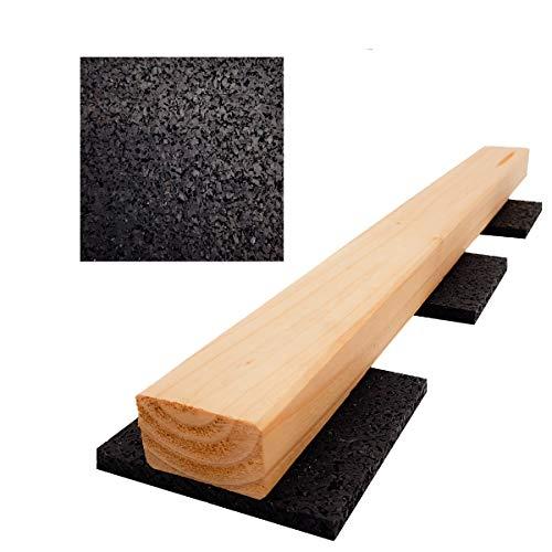 My Plast Terrassenpads 100 Stück 8mm - Terrassenpad aus Gummigranulat für den Terrassenbau 90 x 90 mm