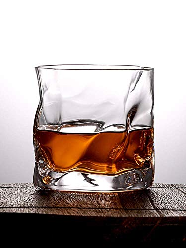 DJYD Perfect Rocking Tumbler Wine Glass, Creative Transparent Crystal Glass, Lead-Free and Durable Heat Insulation, Suitable for Whiskey, 260Ml FDWFN