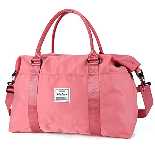 Travel Duffel Bag,Sports Tote Gym Bag,Shoulder Weekender Overnight Bag for Women