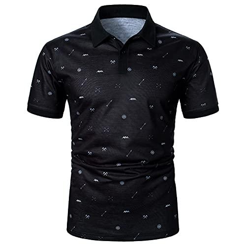 Camisa de verano de manga corta para hombre, camisa informal a rayas, clásica, transpirable, cuello alto, para fiestas formales